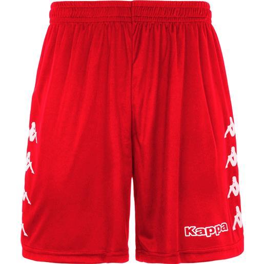 Kappa curchet short 903 red pantaloncino adulto rosso