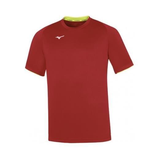 MIZUNO maglietta team core short sleeve red/yellow fluo