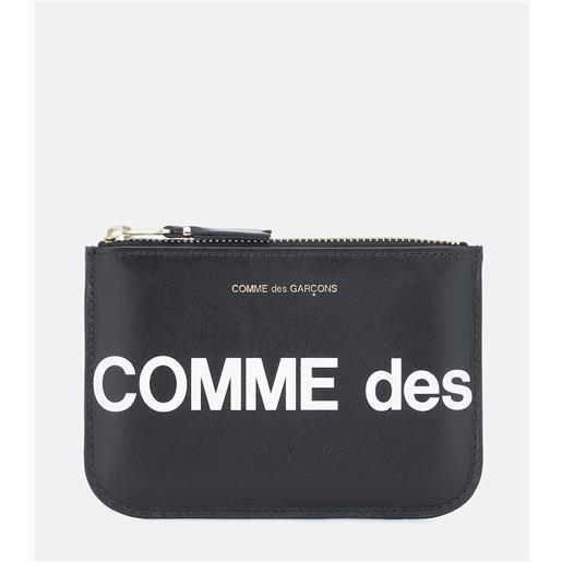 Comme des Garçons Wallet bustina huge logo small in pelle