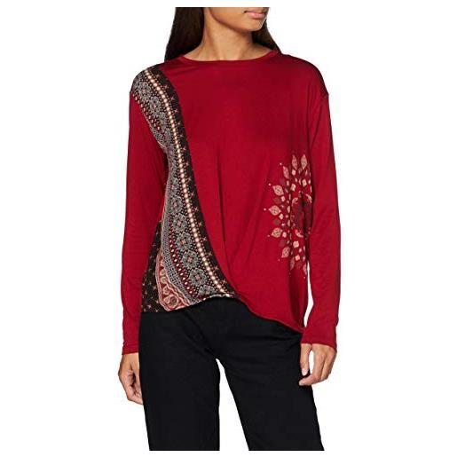 Desigual ts_marsella t-shirt, colore: rosso, s donna