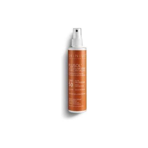 Skinius - plusol latte solare corpo spray, protezione alta spf50, fresca e idratante, protegge e nutre la pelle, 200 ml