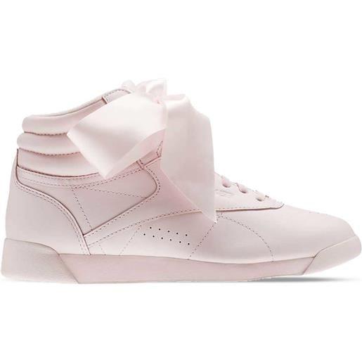 REEBOK sneaker freestyle satin hi satin bow donna rosa