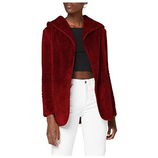 Only onlnewcontact hooded sherpa coat otw giacca, humus, xs donna