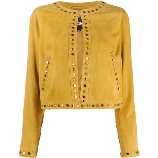 Just Cavalli giacca con borchie - giallo