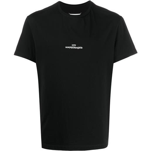 Maison Margiela t-shirt con ricamo - nero