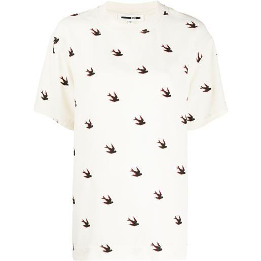 McQ Swallow t-shirt con stampa - toni neutri