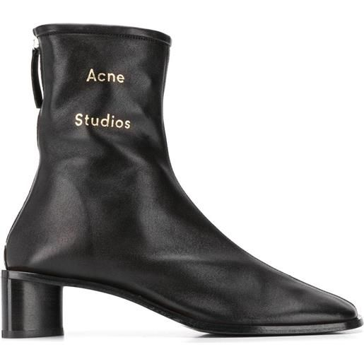Acne Studios stivaletti con logo - nero