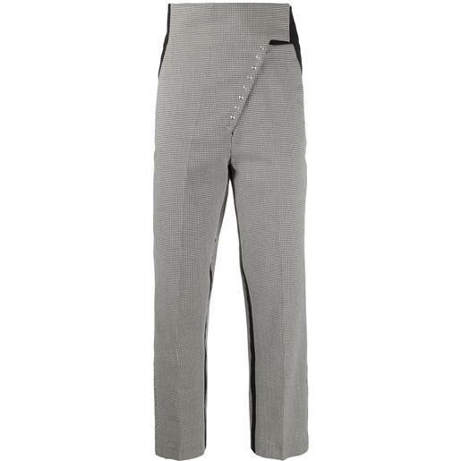 Coperni pantaloni in pied-de-poule - nero