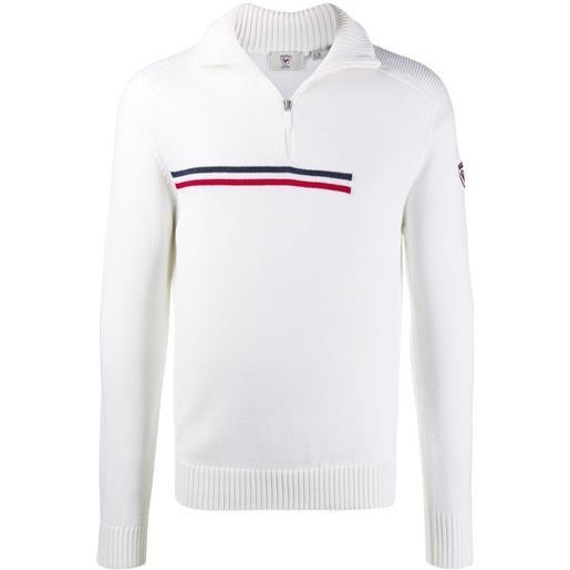 Rossignol maglione con zip - bianco