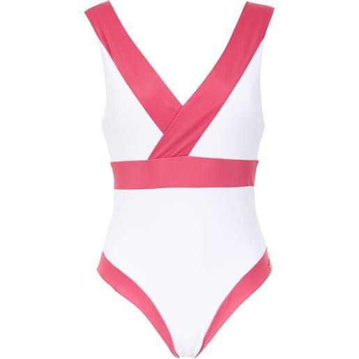 Brigitte costume intero con design a pannelli - rosa