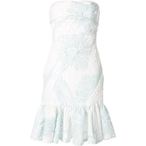Bambah vestito a fiori senza spalline - bianco