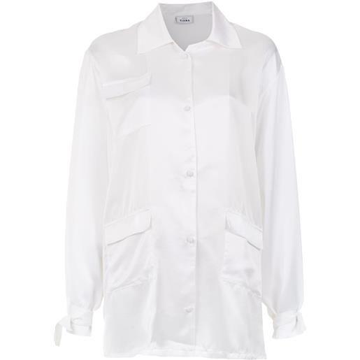 Amir Slama silk oversized shirt - bianco