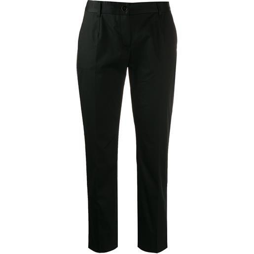 Dolce & Gabbana pantaloni sartoriali crop - nero