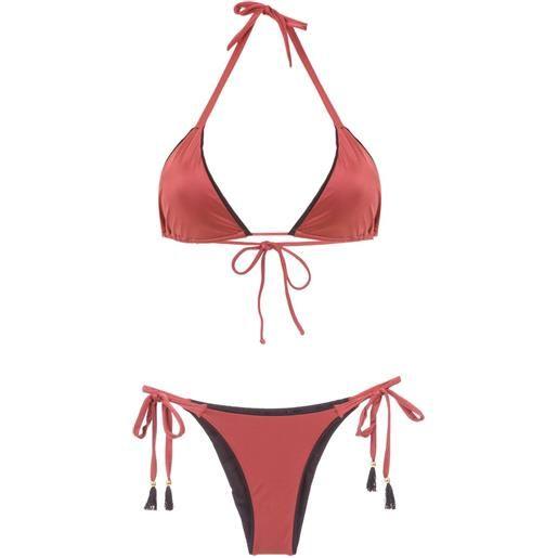 Brigitte triangle top bikini set - giallo