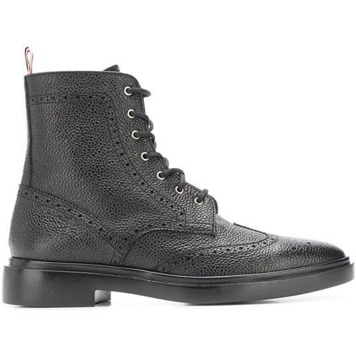 Thom Browne stivali con decorazioni - nero