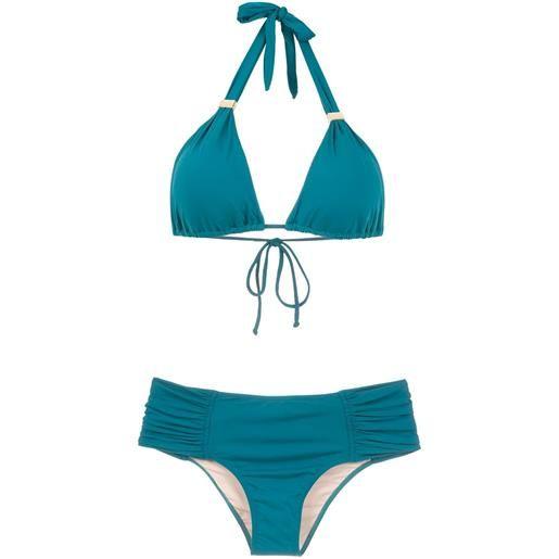 Brigitte bikini con ruches - verde