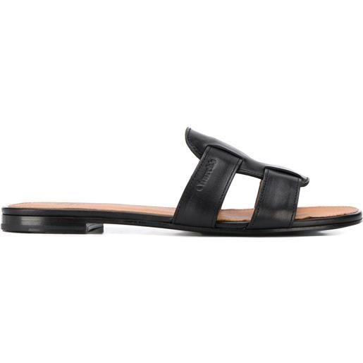Church's sandali slides intrecciato - nero