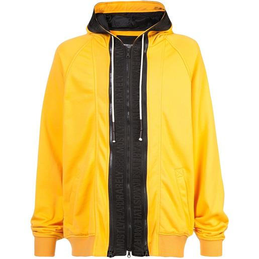 Mostly Heard Rarely Seen zipped hooded sweatshirt - giallo