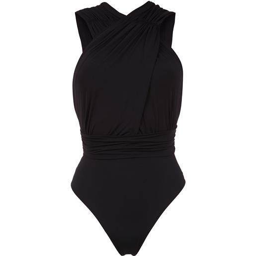 Brigitte ruched talita swimsuit - nero