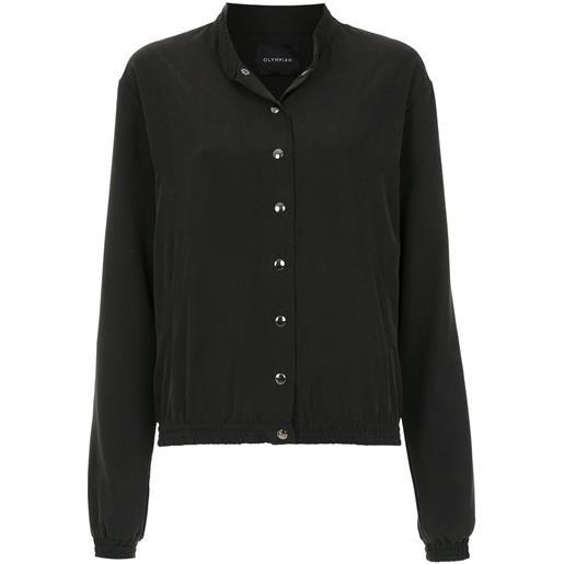 Olympiah giacca con bottoni isolda - nero