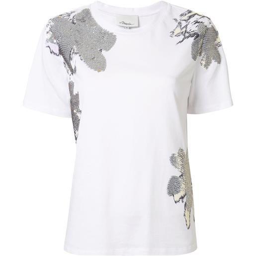 3.1 Phillip Lim t-shirt daisy con decorazione - bianco