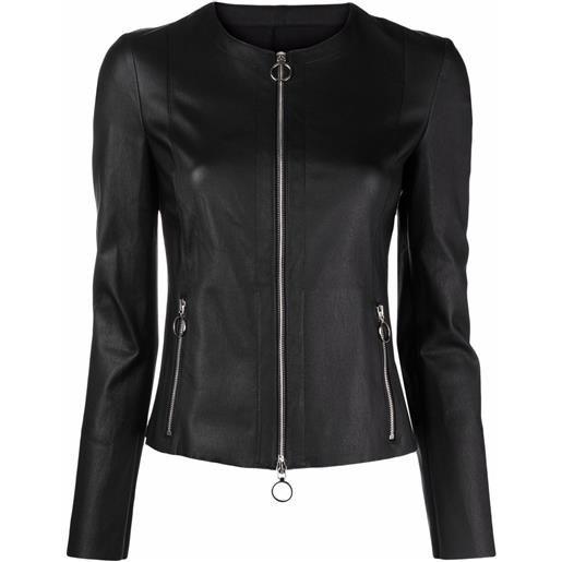 Drome giacca aderente senza collo - nero