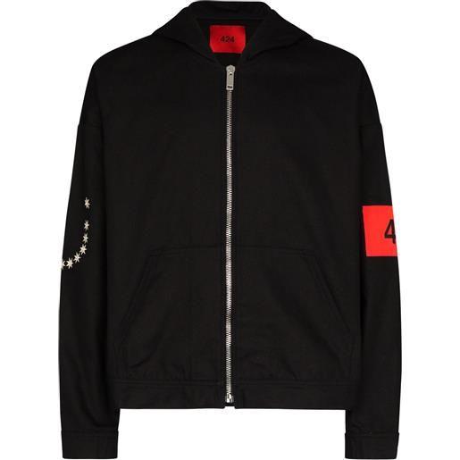 424 giacca con cappuccio - nero