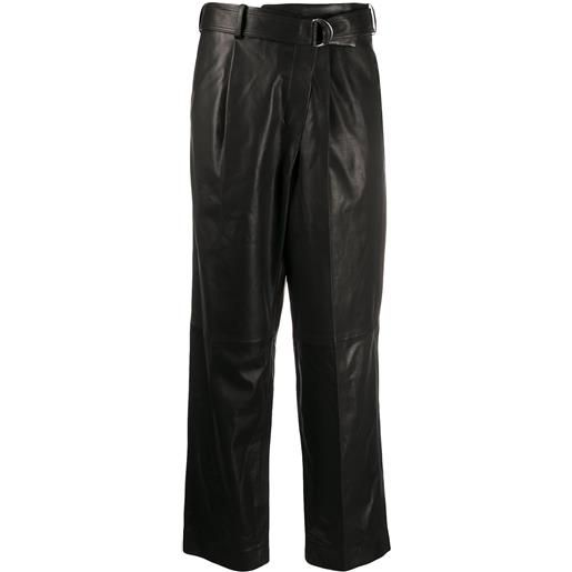 Helmut Lang pantaloni crop - nero