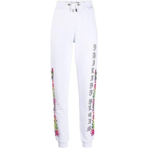 Philipp Plein pantaloni sportivi con decorazione - bianco