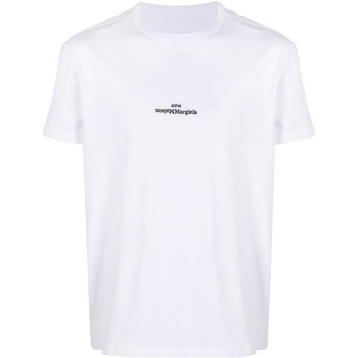 Maison Margiela t-shirt con ricamo - bianco