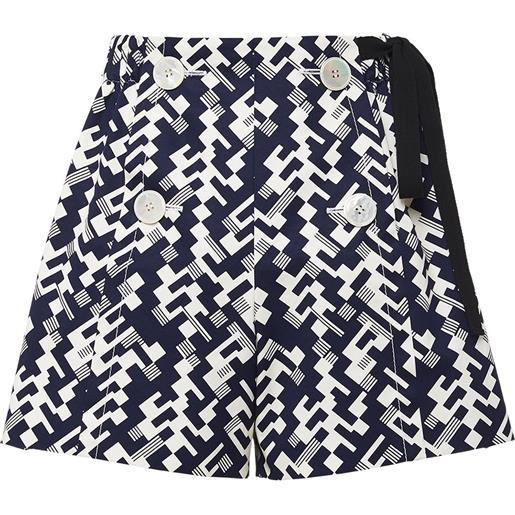 Prada shorts con stampa geometrica - blu