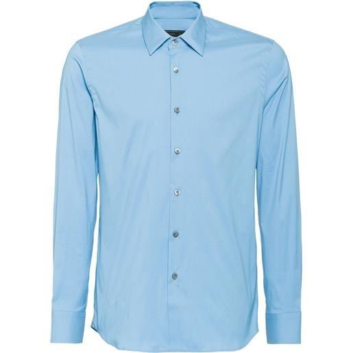 Prada camicia popeline - blu