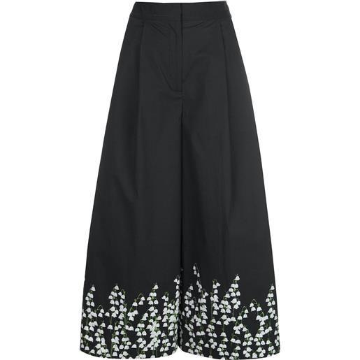 Adam Lippes culottes a fiori - nero
