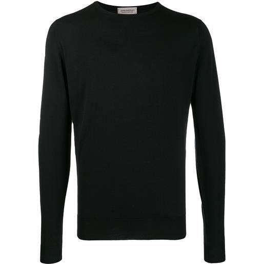 John Smedley maglione lundy a girocollo - nero