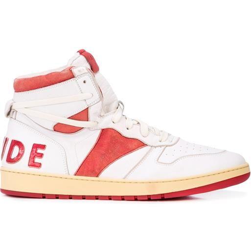 Rhude sneakers alte bball - bianco
