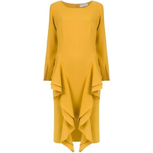 Olympiah vestito midi chipre - giallo