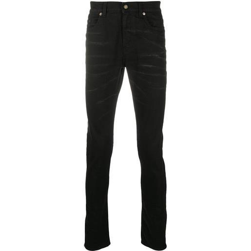 Saint Laurent jeans skinny con cinque tasche - nero