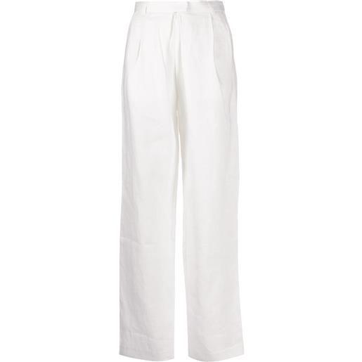 Mara Hoffman pantaloni a vita alta - bianco