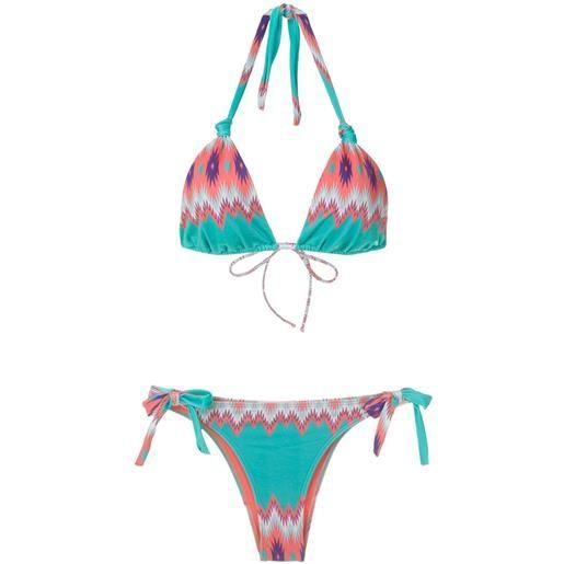 Brigitte set bikini marina e juliana con stampa - multicolore