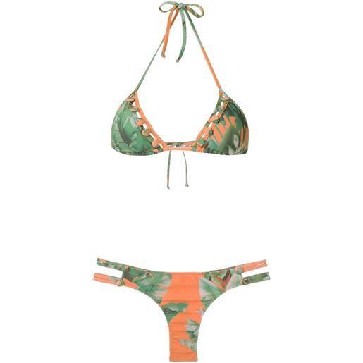 Amir Slama bikini a triangolo - verde