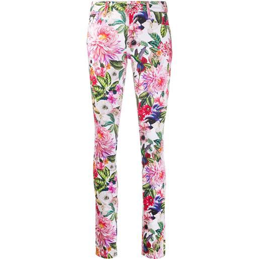 Philipp Plein jeans skinny a fiori - rosa