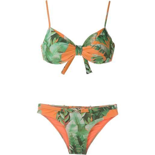 Amir Slama set bikini mata atlântica con stampa - arancione
