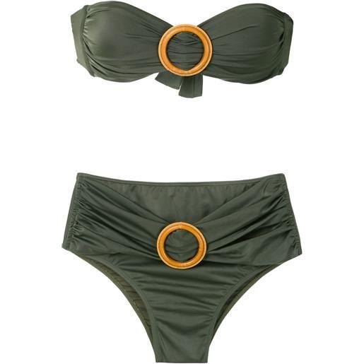 Brigitte set bikini con fibbia - verde