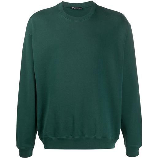 Balenciaga felpa con stampa - verde