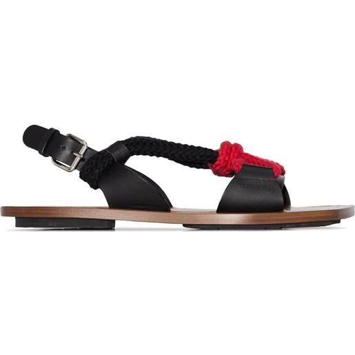 Plan C sandali con cinturino - marrone