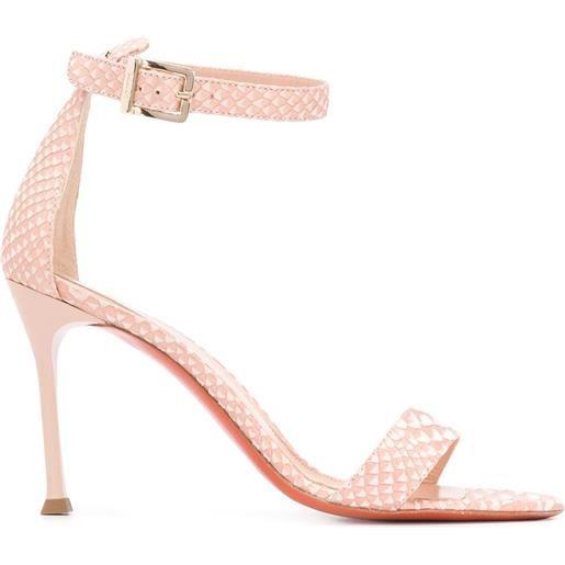 Baldinini sandali con stampa serpente - toni neutri