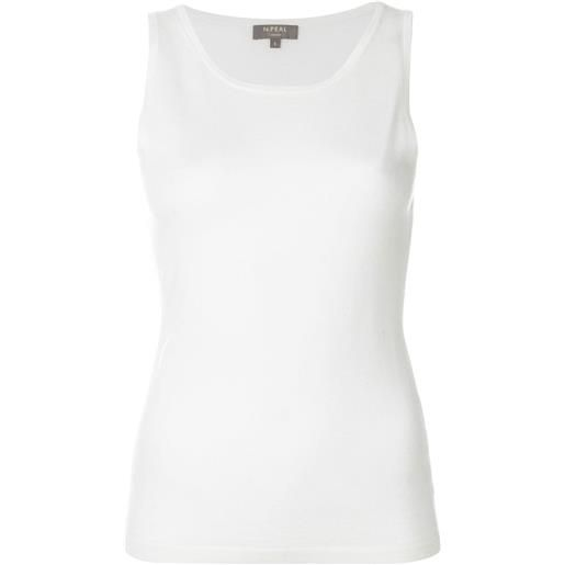 N.Peal top in tessuto leggero - bianco