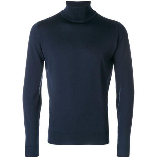 John Smedley maglione dolcevita - blu