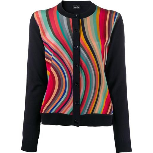PS Paul Smith cardigan a pannelli - nero