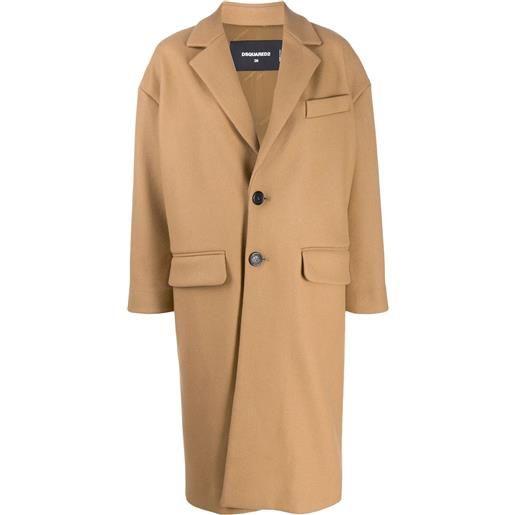 Dsquared2 cappotto monopetto sartoriale - toni neutri
